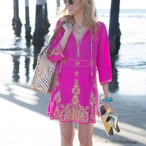 Calypso St Barth silk Revana caftan tunic dress